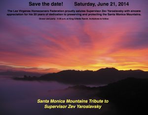 TRIBUTE TO ZEV YAROSLAVSKY - SAVE THE DATE - JUNE 21